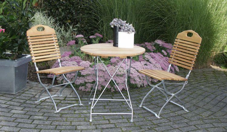 Macht natürlich auch auf der Terrasse eine gute Figur - das Balkonmöbel Set Visby