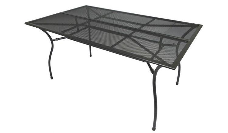 Wetterfester und robuster 150 x 90 x 73 cm Gartentisch aus Streckmetall für 4-6 Personen