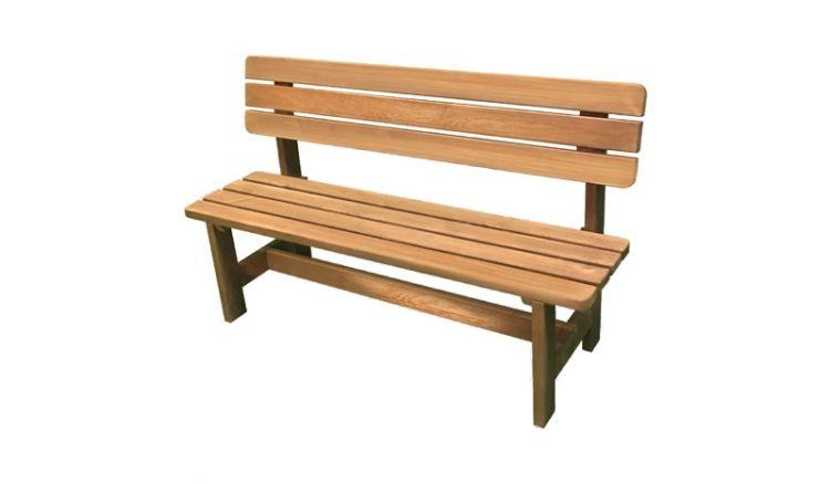 Die klassisch und ansprechend designte Holzgartenbank ist in 2 Farben erhältlich und fügt sich in jeden Garten ideal ein.