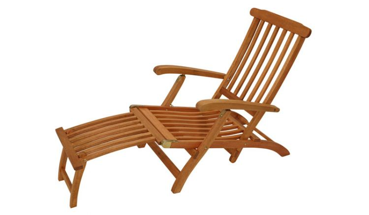 Liegestuhl aus echten Akazienholz.