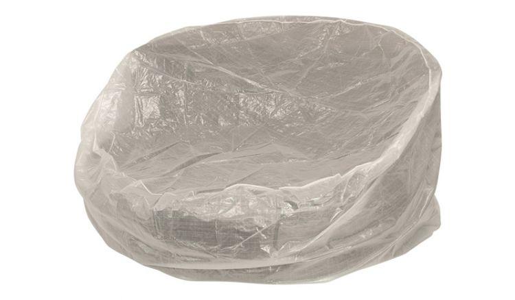 Die Schutzhülle für Gartenmöbel transparent hat das Maß 190 x 126 x 45 cm