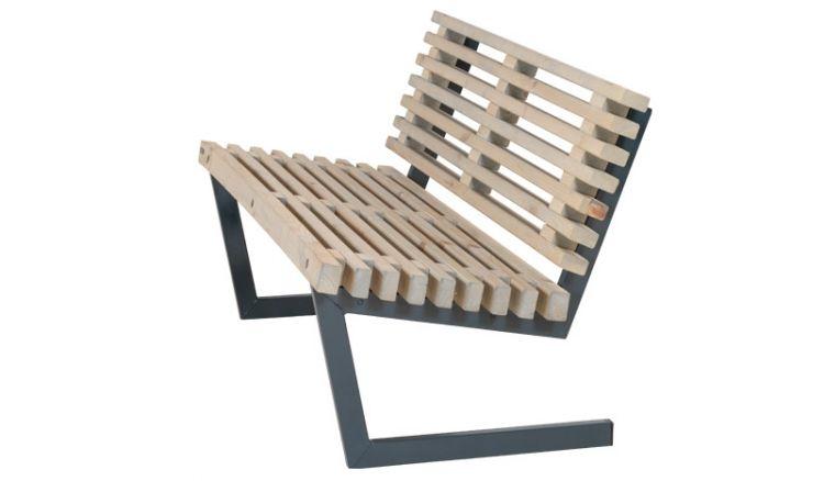 Das Gartensofa der Siesta Gartengarnitur aus Kiefer / Fichte wird aus farbgundiertem, FSC zertifiziertem Holz und in RAL 7016 (anthrazit) pulverlackiertem, feuerverzinktem Stahl gefertigt und garantiert dadurch eine besonders hohe Langlebigkeit.