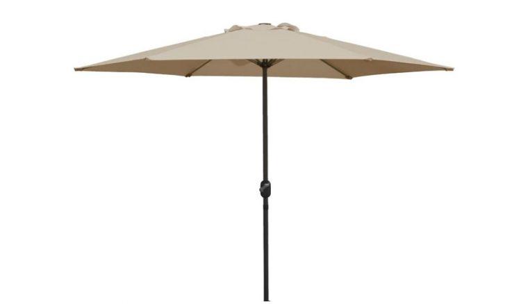 Der Terrassen Sonnenschirm Ibiza in der Farbe Taupe hat einen UV Schutzfaktor 50+ (höchste Stufe) und bietet optimalen Sonnenschutz in Ihrem Garten oder auf der Terrasse.