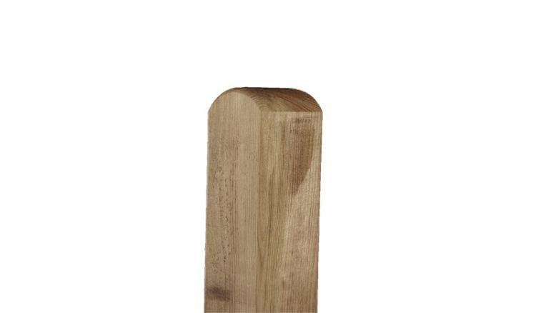 Zaun Pfosten Kiefer Rundkopf in den Maßen 9 x 9 x 95 / 11 / 165 / 19 / 21 / 24cm (kesseldruckimprägniert)