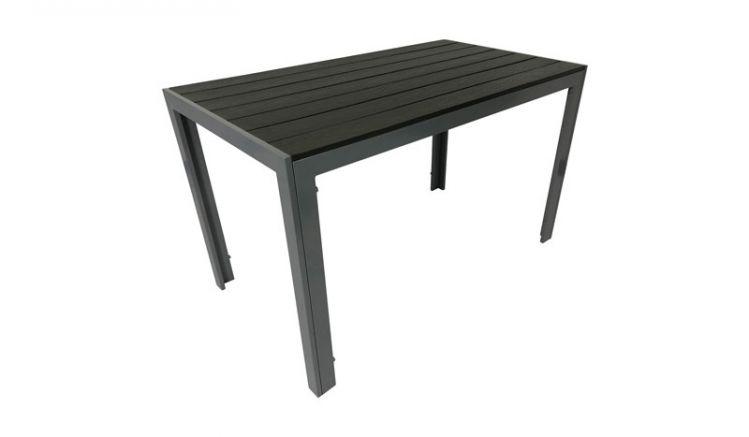 Der Alu Gartentisch ist in zwei Größen erhältlich: mit quadratischer 70 x 70 cm Tischplatte für zwei Personen und rechteckiger 70 x 125 cm Tischplatte für vier Personen