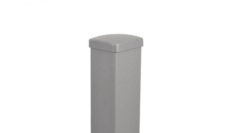 Aluminiumpfosten in Grau mit Eisenglimmer-Effekt: 80 x 80 x 800 / 990 / 1490 / 1850 mm (ggf. + 500 mm Längenzugabe)