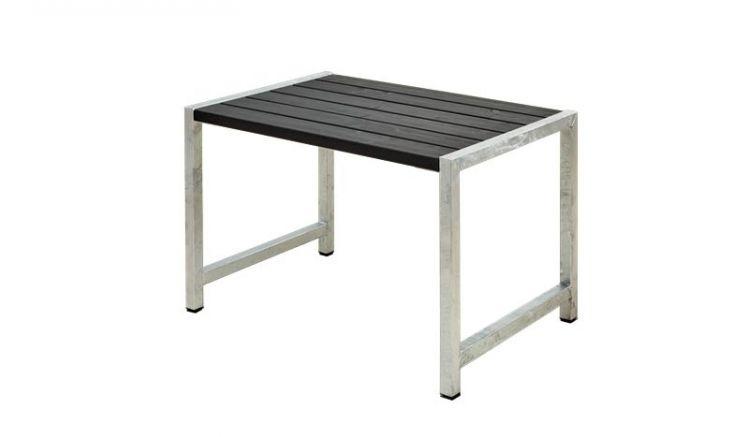 127 x 77 x 73 cm Bistrotisch aus druckimprägniertem und schwarz farbgrundiertem Holz