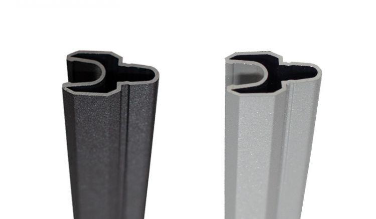 Die 180 cm BPC Lisenen sind in Silbergrau und Anthrazit erhältlich