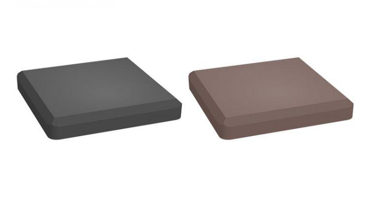 Unsere BPC Pfostenkappen sind in der Farbe Anthrazit und Terra erhältlich. Das Maß der Pfostenkappen beträgt 10 x 10 cm.