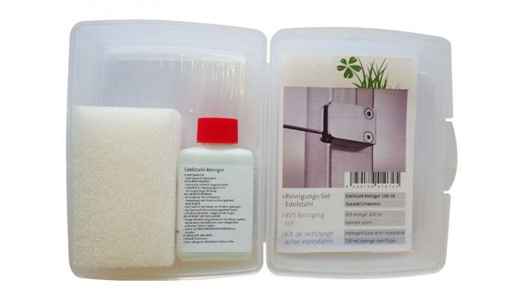 100 ml Edelstahl Reiniger mit Spezial-Schwamm, geliefert in einer Brotdose
