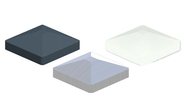 Pfostenkappen für Alu Pfosten der Serie Eno - 8,7 x 8,7 cm