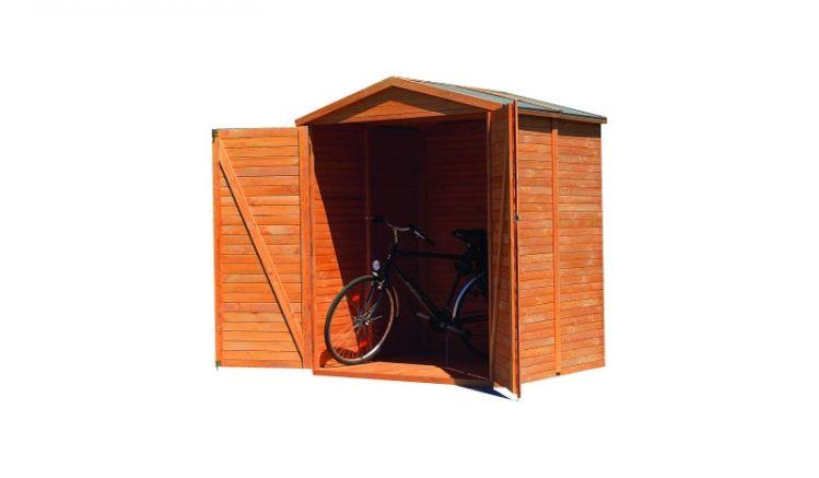 Der Garten Geräteschrank bietet in der großen Variante mit einer Tiefe von 164 cm auch Platz für Ihre Fahrräder.
