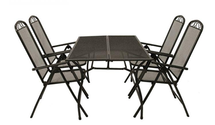 Das Gartenmöbel Set Chania ist aus pflegeleichtem und stabilem Streckmetall gefertigt und in zwei Varianten erhältlich.