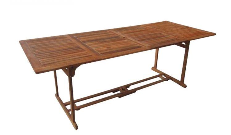 Der stabile Akazien Gartentisch Cancun ist ist einer Breite von 180 cm erhältlich