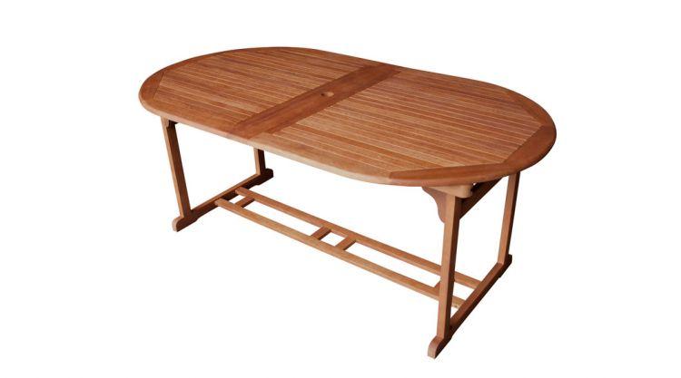 Der Gartentisch Holz ausziehbar Cadiz ist auch FSC zertifiziertem Eukalyptusholz gefertigt