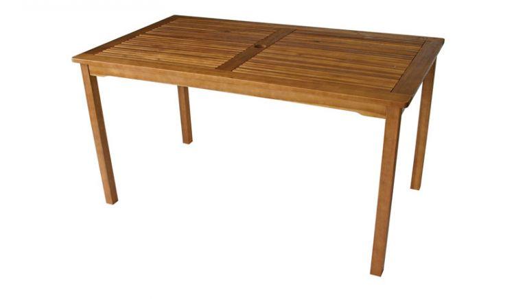 Gartentisch mit Schirmloch in der 140 x 80 cm Tischplatte!