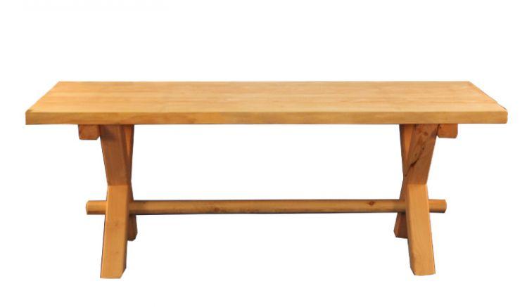 Unser Gartentisch rusitkal aus Douglasie oder Lärche mit einer Breite von 200 cm