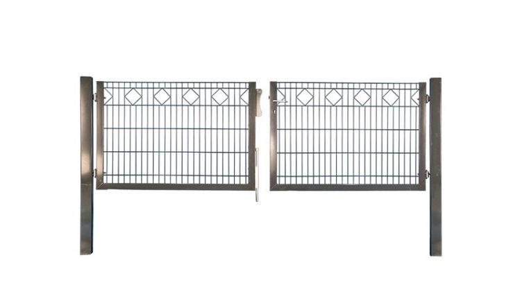 Gartenzauntore Deluxe mit 300 cm lichte Breite und Höhen von 80, 100 oder 120cm