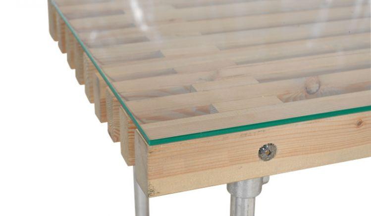 Klare und gehärtete 6 mm Glasplatte für Siesta Gartentische mit polierten Kanten, in 2 verschiedenen Formaten erhältlich