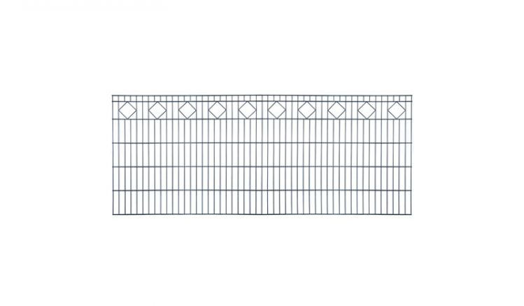 Gittermatten Deluxe aus pulverbeschichtetem Stahldraht mit Karoreihe, verzinkt nach DIN EN ISO 10244-2