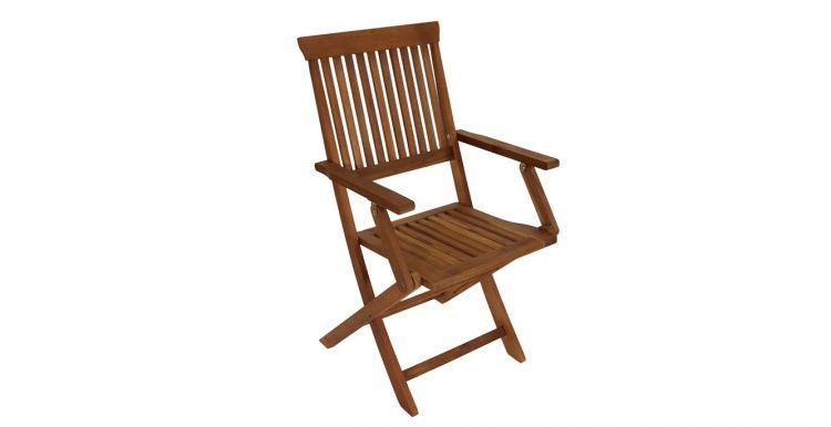 Der Holz Klappsessel La Palma hat das Maß 51 x 56 x 92 cm - geliefert wird im 4er Set