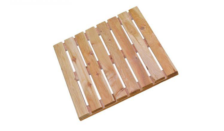 Die Holzfliesen Lärche mit dem Maßen 50 x 50 cm