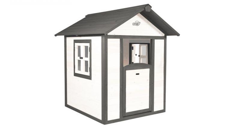 Das Kinder Spielhaus Sunny von meingartenversand.de, optional mit Unterbau und Sandkasten erweiterbar.