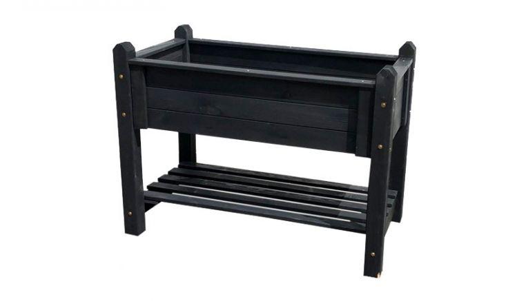 Das praktische, anthrazit lasierte Kräuterbeet ist in den maßen 90 x 60 x 84,5 cm oder 114 x 60 x 84,5cm erhältlich.