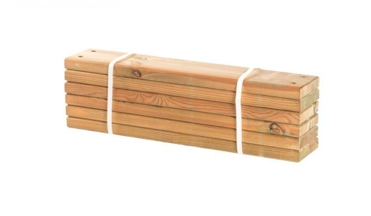 2,8 x 12 x 60 cm vorgebohrte Planken aus unbehandeltem Lärchenholz im 6er-Set