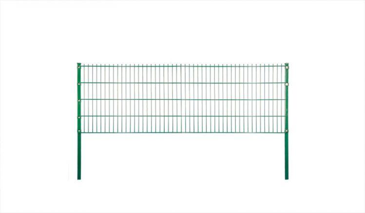 Doppelstabgitterzaunmatte aus verzinktem und pulverbeschichtetem Stahl, in Grün und einer Breite von 2,51 m