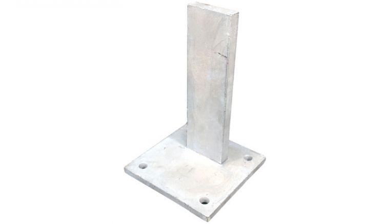 15 x 15 x 23 cm Postenträger aus feuerverzinktem Stahl für den Profilrohrpfosten Eco