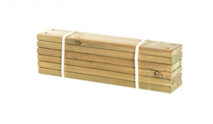 2,8 x 12 x 60 cm Pipe Planken aus druckimprägnierter Kiefer/Fichte im 6er-Set