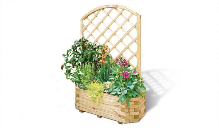 Rankgitter aus Holz für die Blumenkübel Groningen, Wismar, Stockholm, Stade, Stettin und Stralsund
