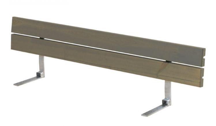 Druckimprägnierte und graubraun farbgrundierte Rückenlehne für Planken Gartenbank