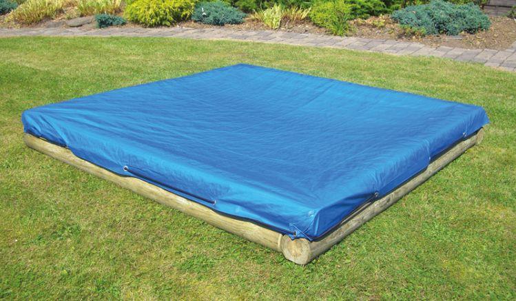 Die Sandkastenabdeckung mit elastischter Kordel von meingartenversand.de, Maße: 225 x 255 cm