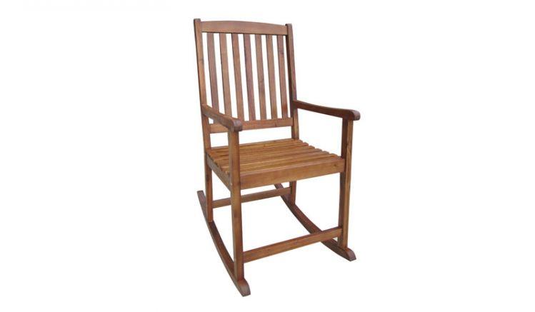 Schaukel Stuhl aus robuster Akazie von meingartenversand.de!