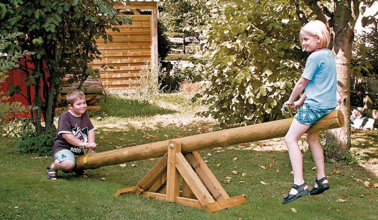 Schaukelwippe ausdruckimprägniertem Holz: 300 x 60 x 70cm