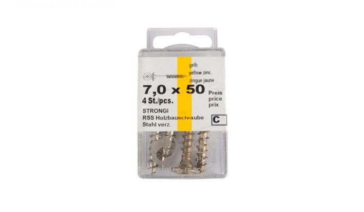 7 x 50 mm Schrauben für Bodenhülsen