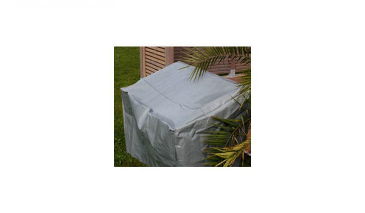 Schutzhülle 3er Gartenbank, 200 x 70 x 65/90 cm (B x T x H) aus schwerer PE Folie (250g / m2) mit 8 Ösen (jeweils 2 an jeder Ecke)