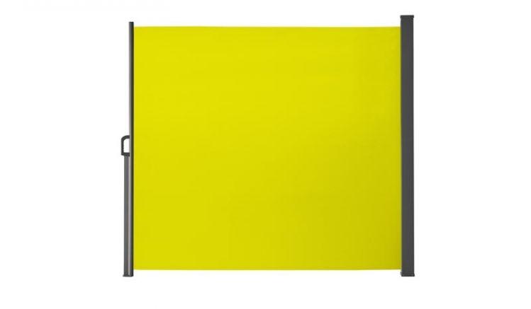 Die 300 x 190 cm Sichtschutz Markise Gijón in der Farbe Lemon schützt flexibel Ihre Privatsphäre