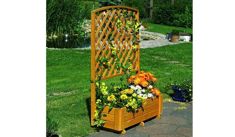 Der Planzkasten mit Spalier Twer ist FSC zertifiziert. Lassen Sie Ihre Pflanzen am Spalier ranken.