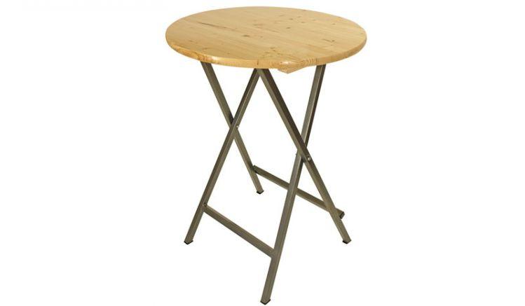Stehtisch klappbar mit runder Tischplatte in 78 cm Durchmesser