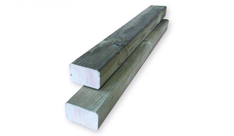 5,5 x 3,5 x 300 / 400cm Unterkonstruktion für Terrassendielen aus Kiefer (kesseldruckimprägniert)