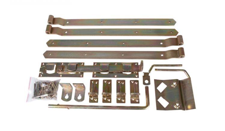 Torbeschläge für Doppeltore aus Stahl (verzinkt)