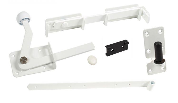 Das Torzubehör für die Aluminium Zaunserie Neuhausen bietet alle Einzelteile zur Tormontage. Ideal für Bastler.