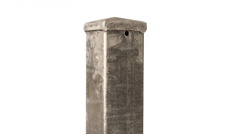 Zaunpfosten verzinkt mit Rundkopf in den Maßen 6 x 6 x 24cm