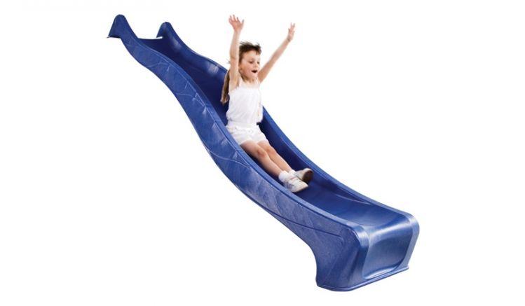 2,9m Lange Wellenrutsche aus Kunststoff - ideal für Spielgeräte mit einer Podesthöhe von ca. 1,5m. GS- und TÜV-geprüft