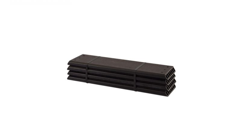 2,5 x 18 x 60 cm vorgebohrte Planken aus witterungsbeständigem WPC im 4er-Set