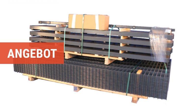 Günstige Zaunpakete mit Maxi Doppelstabmatten, die Drahtstärken von 8 / 6 / 8 mm vorweisen