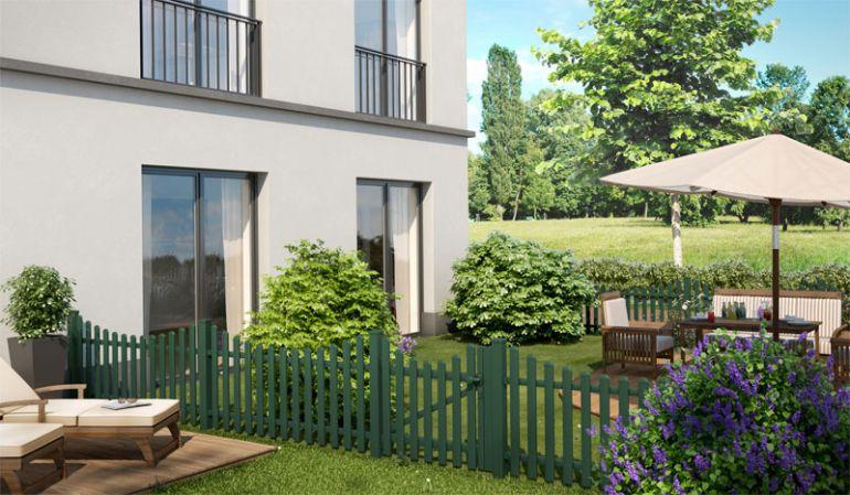 Die Alu Gartenzäune Alkmaar in Moosgrün (ähnlich RAL 6005) brauchen nicht gestrichen werden, haben eine lange Lebensdauer und ein zeitloses Design